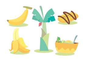 Insieme di vettore di banana