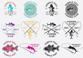 Loghi di pesca vettore