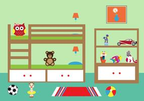 Illustrazione vettoriale di una stanza di Chlid