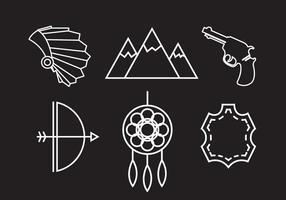 Icone vettoriali Wild West