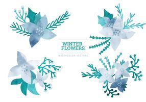 Elementi di inverno di vettore