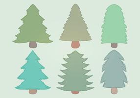 alberi vettoriali disegnati a mano