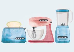 Illustrazione di vettore di utensili da cucina retrò