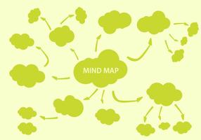 Vettore gratuito di elementi di mappatura della mente