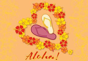 carta aloha amore vettore