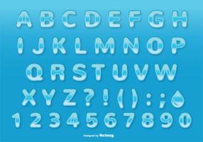 Carattere stile acqua / set di alfabeto