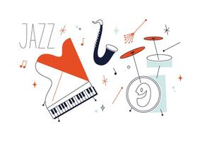 vettore di musica jazz