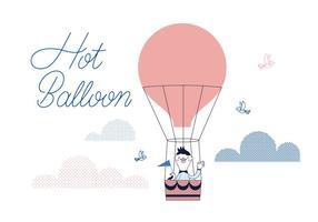 vettore di ballon caldo