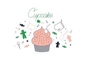 Vettore di Cupcake gratuito