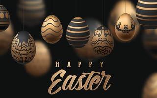 buona Pasqua con realistiche uova di Pasqua