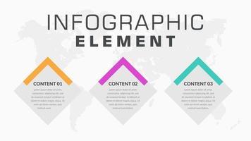 infografica di affari a forma di diamante