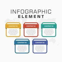 elemento colorato infografica design per strategia aziendale vettore