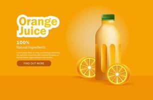 pubblicità di succo d'arancia vettore