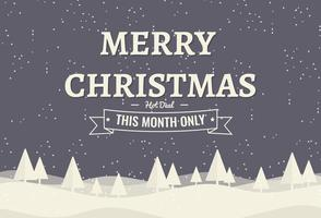 Illustrazione di sfondo Natale gratis con tipografia vettore