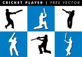 Giocatore di cricket vettoriali gratis
