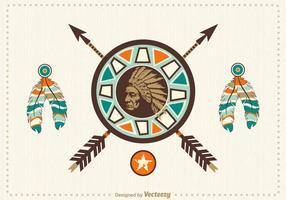 Disegno vettoriale nativo americano