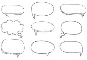 vettore di bolle di dialogo abbozzato gratis