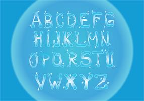 Vettore di font di acqua libera