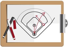 vettore di baseball diamante