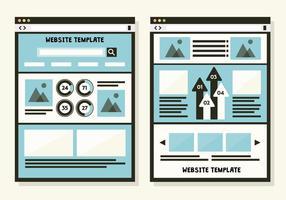 Sfondo vettoriale di Web template gratuito