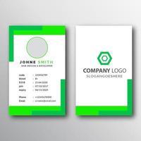 modello di biglietto da visita al neon verde e bianco