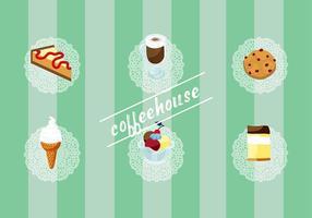 Set gratuito di elementi vettoriali Coffee House