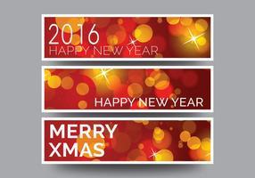 Vector banner di nuovo anno
