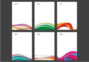 Carta intestata con linea design vettoriale