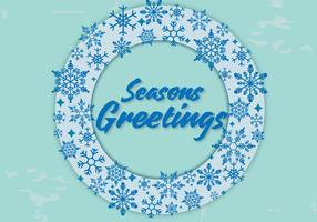 Vettore di saluti di stagioni
