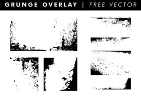 Sovrapposizioni e trame di grunge vettoriali gratis