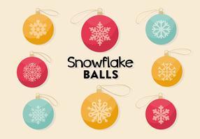 Vettore di palle di Natale decorativo gratis