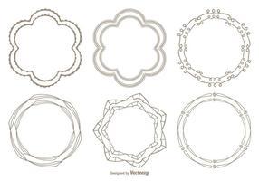 Set di cornici stile disegnato a mano carino