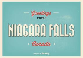 Retro illustrazione di saluto di cascate del Niagara