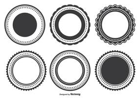 Set di forme di badge vettore