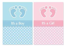 Set di carte carino baby doccia vettore