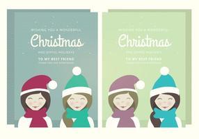 Carta vettoriale di Natale