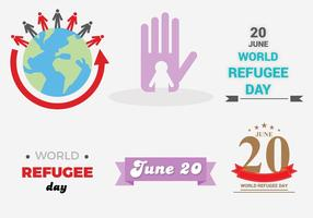 Free Day rifugiati vettoriale