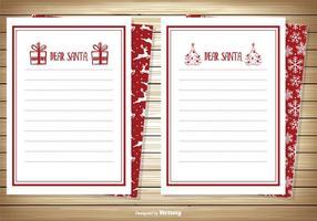 Caro set di carte di Babbo Natale vettore