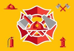 Elementi di vigile del fuoco vettore