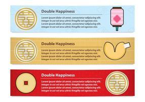 banner di doppia felicità