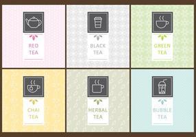 Etichette di tè vettore