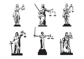 Lady Justice Vector gratuita