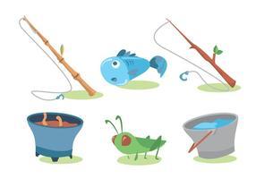 Insieme di vettore della canna da pesca
