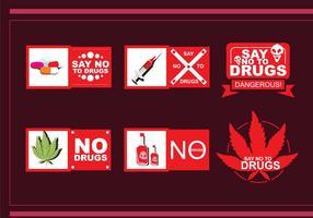 Nessun badge di droga vettoriale