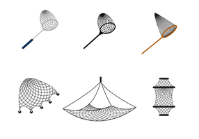 Vettore netto della rete da pesca