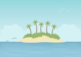 Vettore di isola tropicale