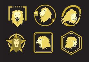Emblemi di testa di leone vettore