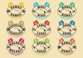 Francobolli hawaiani vettore