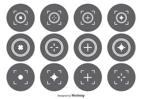 Set di icone del mirino vettore
