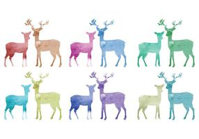 Vector acquerello cervo